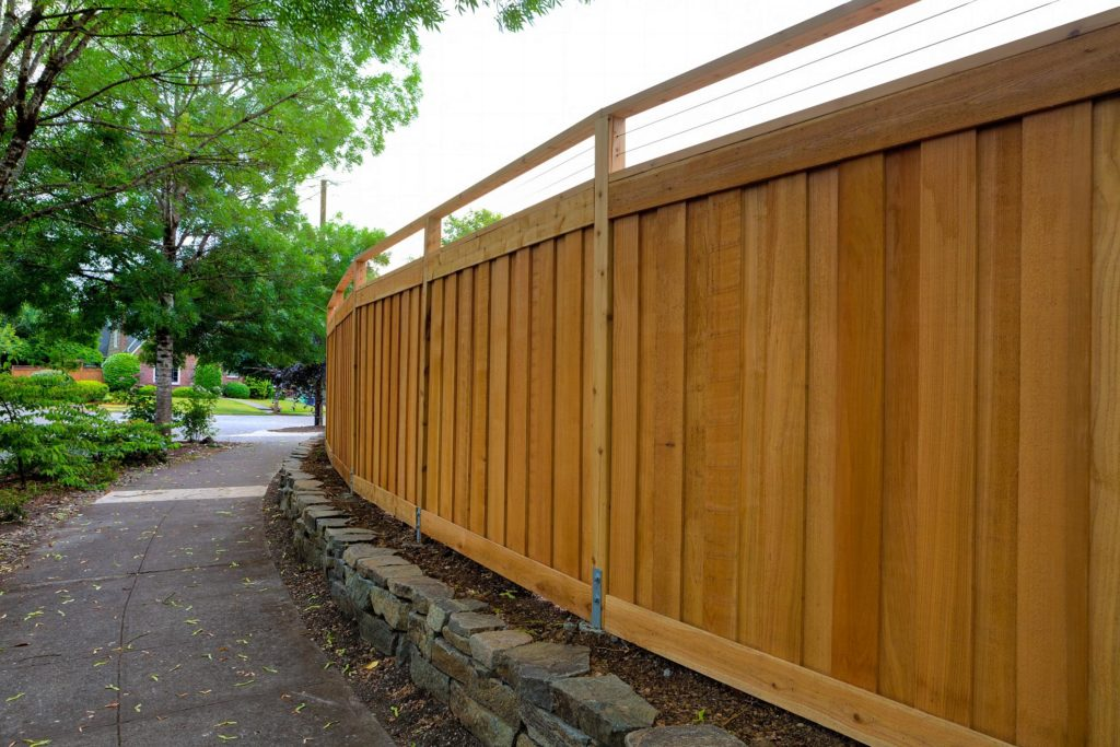 residential custom fences completed